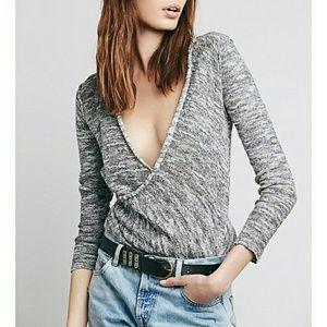 Free People medium pullover wrap sweater